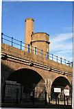 TQ3681 : Hydraulic accumulator tower, Limehouse by Chris Allen