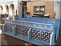 TQ7909 : Blue Choir Stalls, St John's Church by Julian P Guffogg