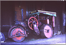 TL8928 : Chappel & Wakes Colne - road roller by Chris Hodrien