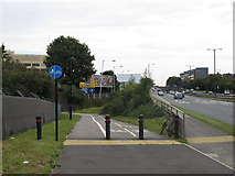 TQ1882 : Cycle track from A40 under Central Line at Hanger Lane by David Hawgood
