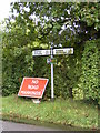 TM2551 : Roadsign on Boulge Road by Adrian Cable