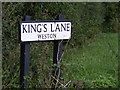 TM4286 : Kings Lane sign by Adrian Cable