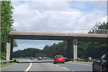 NZ2412 : Bridge over the A1(M) near Cleasby by N Chadwick