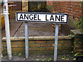 TM4575 : Angel Lane sign by Adrian Cable