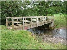 SO2730 : Wooden footbridge across the Afon Honddu by Jeremy Bolwell