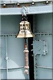 TQ7569 : Bell on HMS Cavalier, WWII Destroyer, Chatham Historic Dockyard, Kent by Christine Matthews