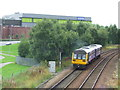 NZ2162 : Train leaving Metrocentre station by Malc McDonald