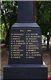 SO8483 : Inscription on new War Memorial - north side, High Street, Kinver by P L Chadwick
