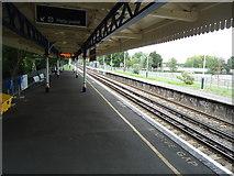 TQ1070 : Kempton Park railway station by Stacey Harris