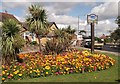 TQ4066 : Hayes Village Sign and Flower Bed by David Anstiss