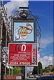 SO8484 : The former Crown & Anchor (2) - sign, 115A Enville Road, Kinver by P L Chadwick