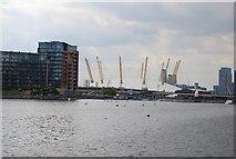 TQ3980 : O2 Arena seen across Royal Victoria Dock by N Chadwick