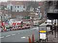 SP0583 : Roadworks on Bristol Road, Bournbrook by Phil Champion