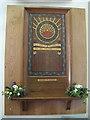 TQ3656 : St Paul's church, Woldingham: war memorial by Stephen Craven
