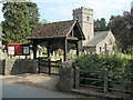 SO3116 : Lych gate, St Teilo's church, Llantilio Pertholey by Jaggery