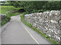 SD8167 : Stainforth packhorse bridge - west by John S Turner