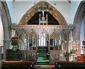 SP8563 : Chancel screen in All Saints Church, Earls Barton by Humphrey Bolton