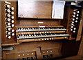 SK8262 : Organ Console, All Saints Collingham by J.Hannan-Briggs
