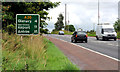 J1667 : Route confirmatory sign, Ballinderry by Albert Bridge