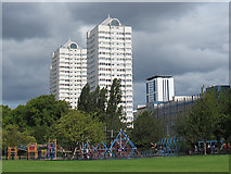 TQ2574 : Playground in King George's Park by Stephen Craven