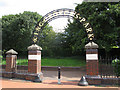 TQ2573 : Entrance to King George's Park by Stephen Craven