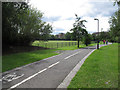 TQ2573 : Cycleway in King George's Park by Stephen Craven