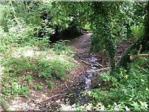 TL8663 : Waterway junction in No Man's Meadow by John Goldsmith