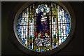 TQ8015 : Stained glass window, Westfield Church by Julian P Guffogg