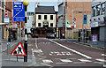 J3374 : Bus lane, Queen Street, Belfast by Albert Bridge