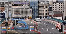 J3474 : Repairs, Queen Elizabeth Bridge, Belfast (1) by Albert Bridge