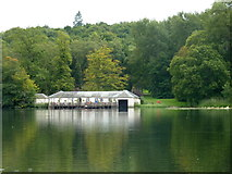 SE7170 : The Boathouse, Lakeside cafe and landing stage, Castle Howard by pam fray