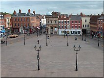 SK7953 : Newark marketplace from the town hall by Neil Theasby
