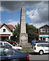 SP2382 : Cyclists' war memorial on the Green by Robin Stott