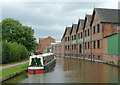 SJ8933 : Trent and Mersey Canal in Stone, Staffordshire by Roger  Kidd