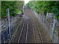 NS3274 : Railway line at Port Glasgow by Thomas Nugent