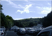 SX2051 : Crumplehorn car park on Bank Holiday Monday by Eric Foster