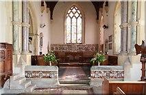 TG0135 : St Mary, Gunthorpe - Chancel by John Salmon