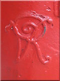 TQ2284 : Victorian postbox, Villiers Road / Belton Road, NW2 - royal cipher by Mike Quinn