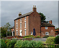 SJ9132 : Brassworks Farmhouse south-east of Stone, Staffordshire by Roger  Kidd