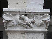TQ2284 : Stone bird on doorway, Chaplin Road, NW2 by Mike Quinn