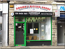 TQ2284 : Norma's Blessed Hands, High Road, NW2 by Mike Quinn