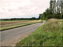 TF8707 : Approaching Scant's Corner on Brown's Lane, Holme Hale by Evelyn Simak