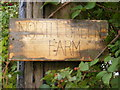 TM3966 : North Green Farm sign by Adrian Cable