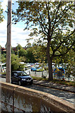 SJ4065 : City Wall and Little Roodee Car Park by Mark Anderson