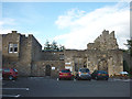 NY6664 : Car park and ruins, Blenkinsopp Castle by Karl and Ali