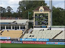 SP0684 : Edgbaston Cricket Ground: the scoreboard by John Sutton