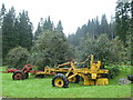 NX9891 : Old forest machinery, Ae Forest by Bob Peace