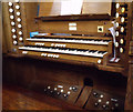 SK9772 : Organ Console, St Nicholas church by J.Hannan-Briggs