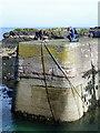 NT9267 : Harbour wall, St Abbs by Maigheach-gheal