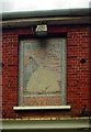 TQ3877 : Faded mosaic pub sign, Greenwich by Julian Osley